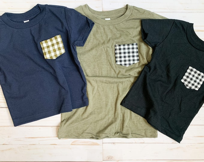 Gingham Pocket Tee, Toddler/Youth