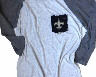 Baseball Tee, New Orleans Saints