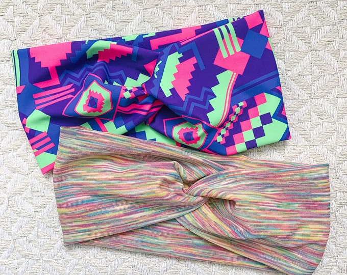 Workout Headbands, Neon
