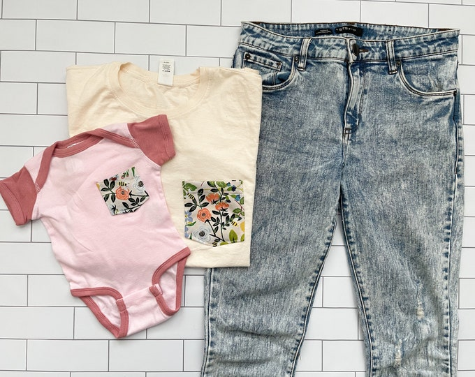 Mommy and Me Set, Mauve Floral