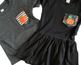 Pumpkin Tee or Dress, Baby/Toddler/Youth