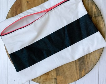 Wetbag, Black and White Stripes