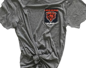 Pocket Tee with Chicago Bears