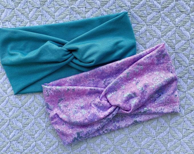 Pastel Tie Dye Turban Set