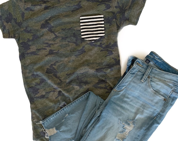 Camo Stripe Pocket Tee