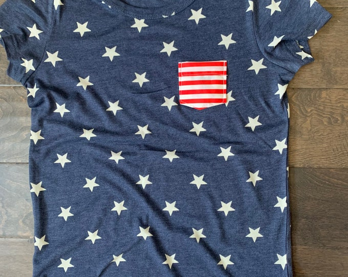 Stars + Stripe Pocket Tee