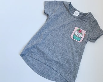 Pink and Teal Cupcake Tee