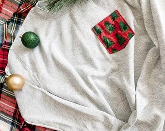 Christmas Tree Pocket Sweatshirt