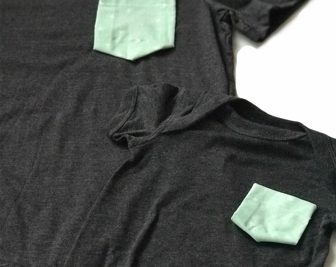 Mommy and Me Tshirt Set, Mint Triangle
