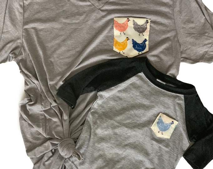 Chicken Pocket Tee, Mommy and Me Set