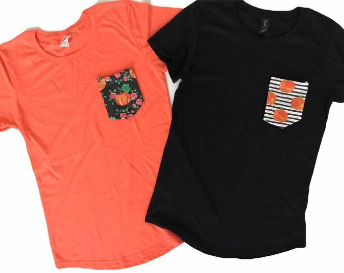 Women's Halloween Pocket Tshirt