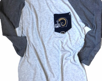 Baseball Tee, Los Angeles Rams