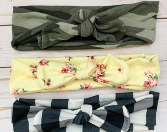 Fall Tie Headband Set