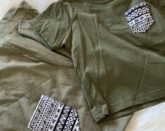 Matching Shirts, Olive tribal