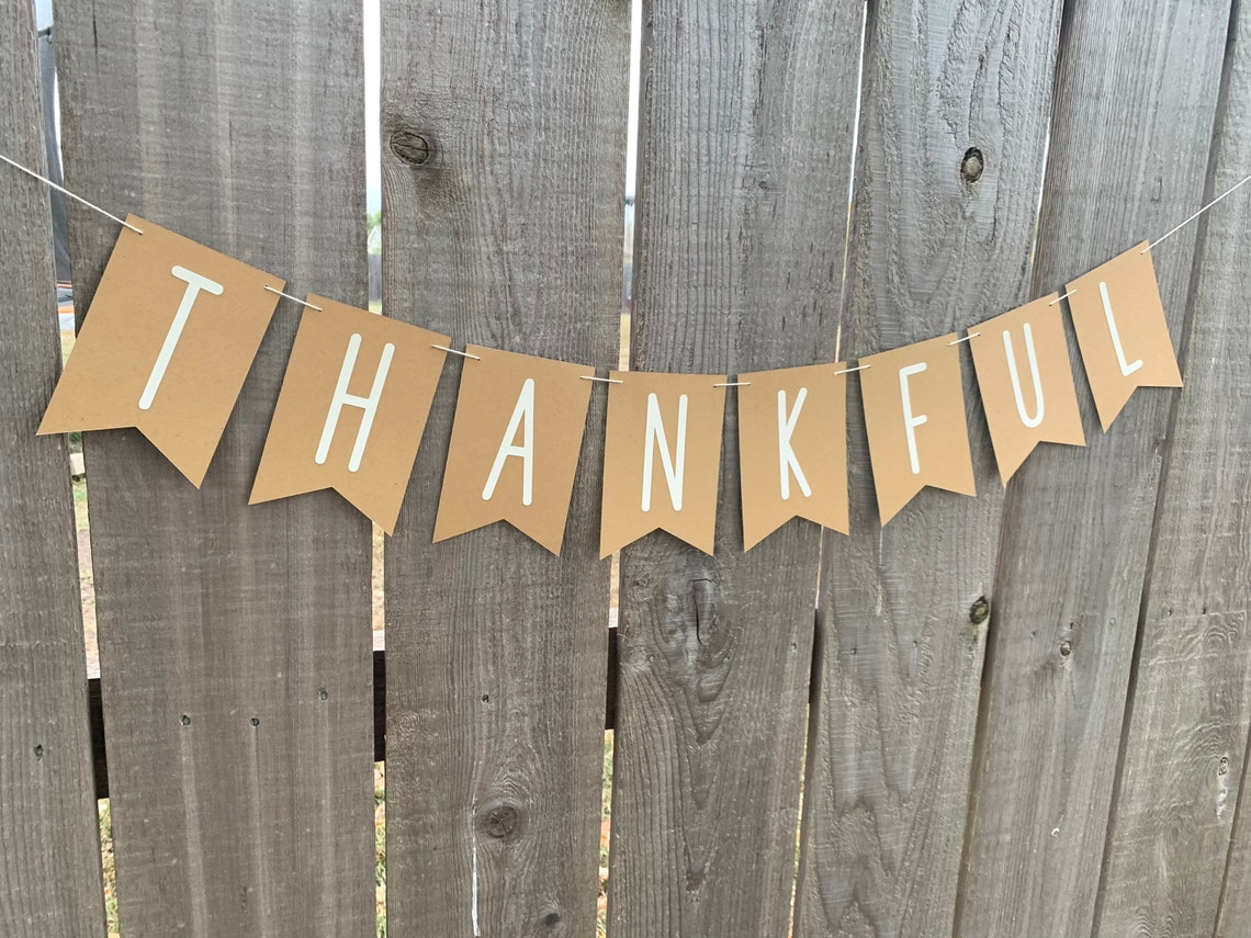 Thankful Banner Flags