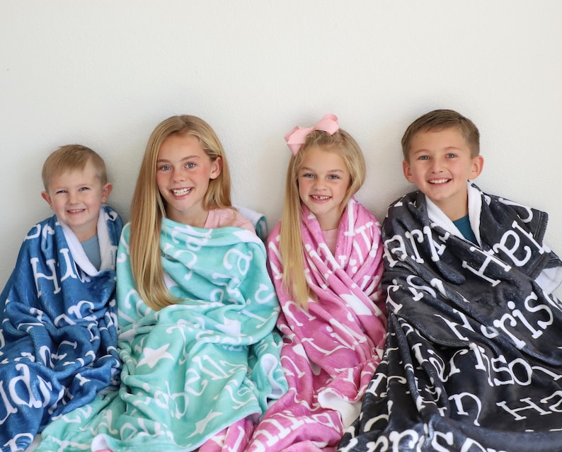 Monogram Blanket  Personalized Blanket  Custom Blanket  image 0
