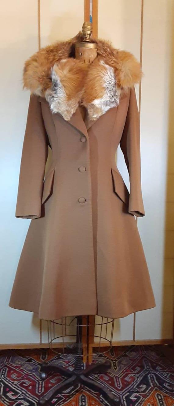 Women's Vintage Coat--60s Lilli Ann Caramel Prince