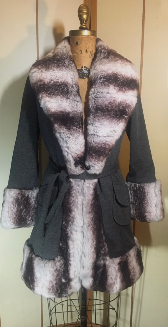 Lilli Ann Princess Natural Luxury Fur and Wool Fit