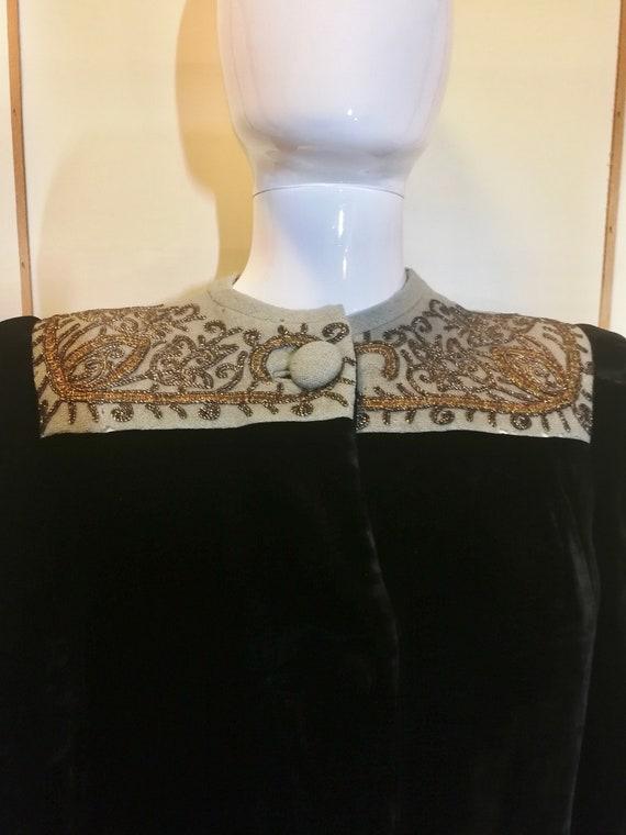 Bonwit Teller Fifth Ave Velvet Opera Dress Coat 40