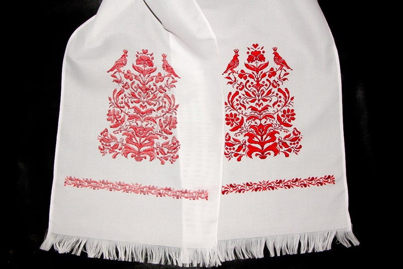 Tree of Life Hand Embroidered Ukrainian Embroidery Wedding Towel Embroidered Towel Decor Embroidered Gift Tree of Life Gift Bohemian Wedding