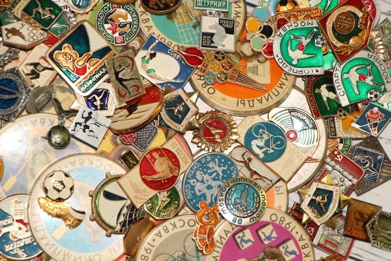 Lot of Sports pins Vintage Enamel Lapel pins Olympic Games ...