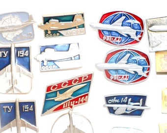 Russian planes set of pins ussr badges pins backpack pins aviation pins airplane theme enamel badge airplane party Russian flight avia pin