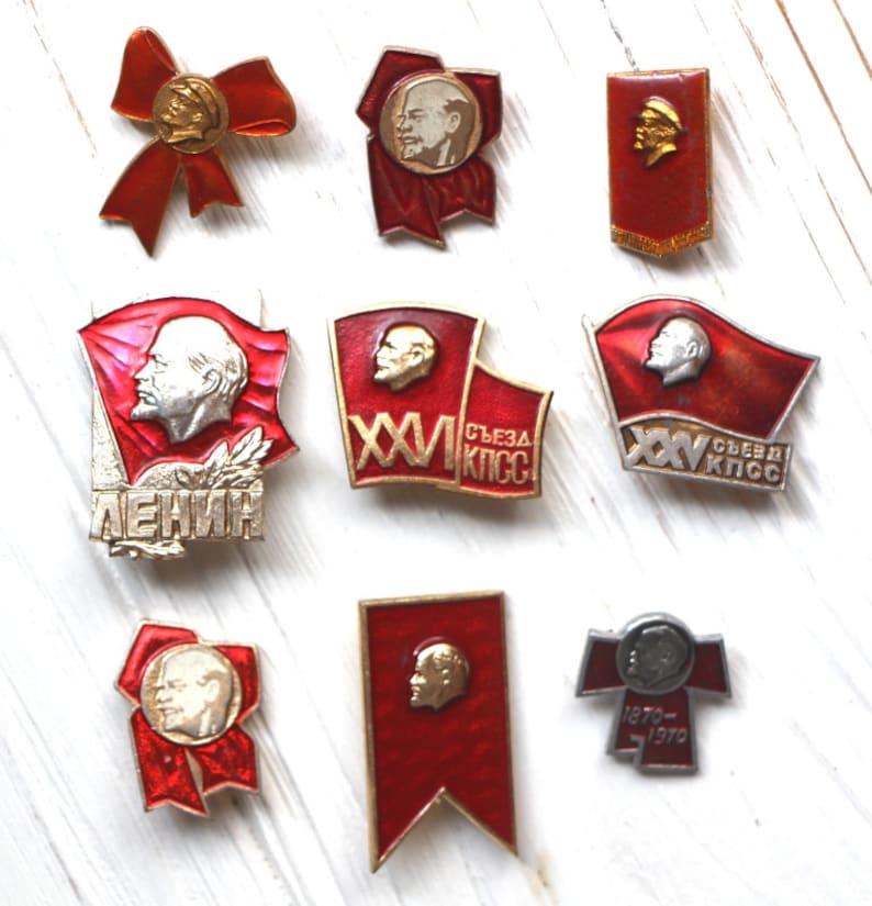 Vintage Vladimir Lenin Pin Badge Russian Revolutionary Leader