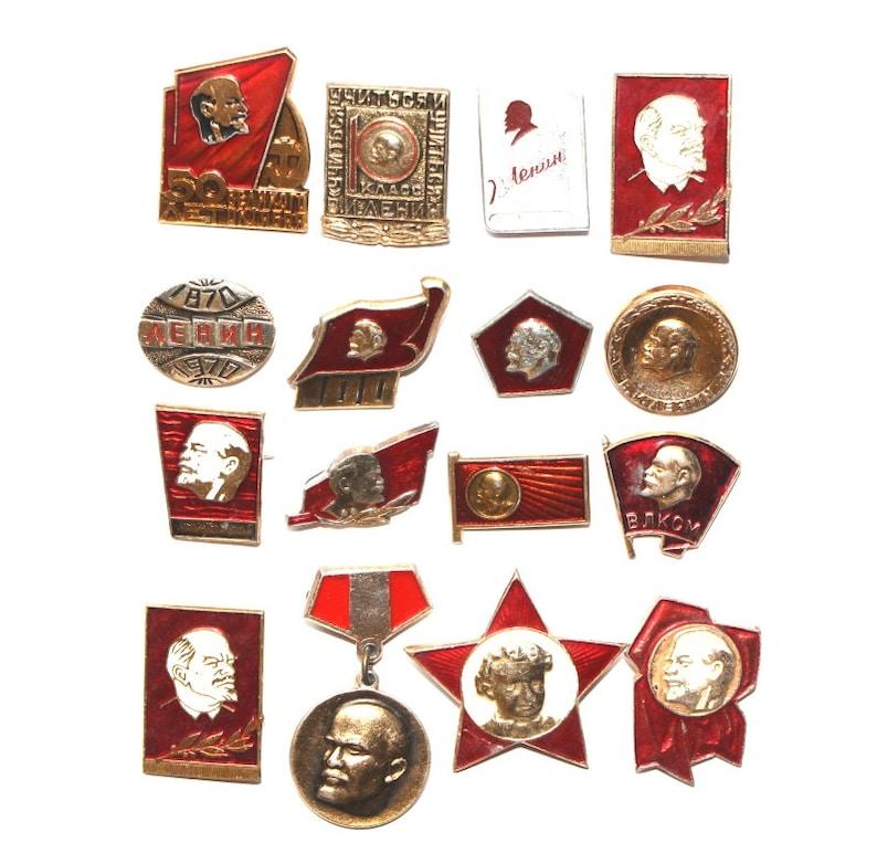 756c16a36 Lenin Vintage Soviet pin political pin red enamel pin Lenin