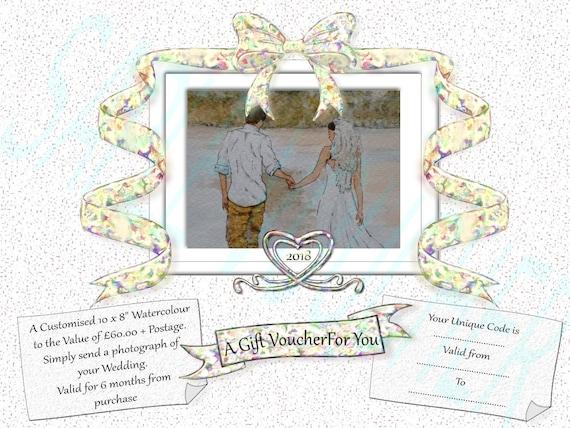 Honeymoon Vouchers As Wedding Gifts: WEDDING GIFT VOUCHER Art Gift Bride And Groom Gift