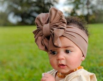 Mocha Messy Bow Headband 1b12ea75761