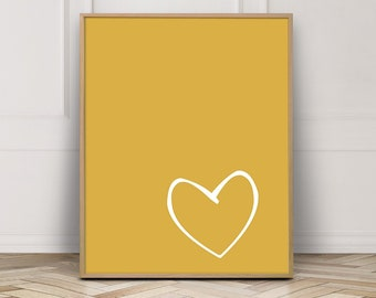Mustard Yellow Decor Etsy