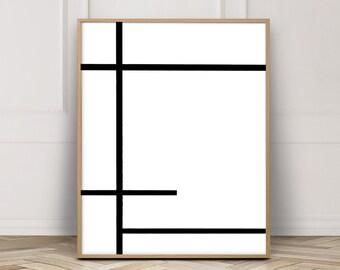 Black and White Art, Minimalist Poster, Modern Wall Art, Minimalist Art, Scandinavian Art, Poster Minimalist, Poster Print, Printable Poster