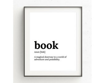 Book Lovers Gift, Definition Print, Literary Gift Print, Literary Quote, Gift For Her, Literary Gift Poster, Dictionary, Instant Download