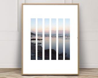 Beach Cottage Decor, Ocean Print, Digital Download Art, Beach Art, Beach Decor, Landscape Print, Printable Artwork, Nature Photography