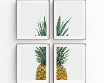 Charmant Wall Art Print Sets, Pineapple, Set Of 4 Prints, Modern Art Set, Pineapple  Decor, Kitchen Wall Art, Pineapple Print, Livingroom Decor, Art