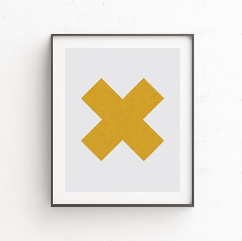Geometric Wall Art Affiche Scandinave Geometric Print Gold image 0