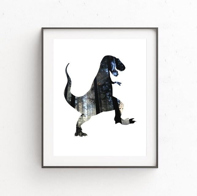 Dinsoaur Wall Art Dinosaur Printable T Rex Print