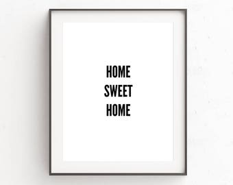 Home Sweet Home Sign, Home Sign, Home Print, Digital Download Art, Housewarming Gift, First Home Gifts, Rustic Wall Decor, Wall Art