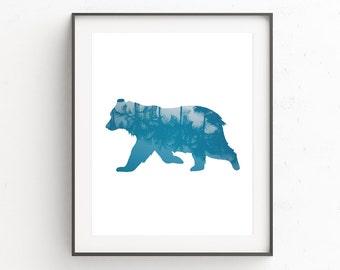 Animal Nursery Wall Print, Woodland Nursery Wall Prints, Woodland Nursery Wall Decor, Kids Room Wall Print, Nursery Animal Art Print