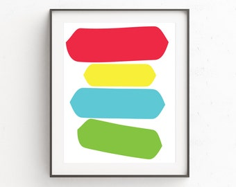 Minimal Abstract Print Art, Minimalist Printable Poster, Art Work, Modern Abstract Wall Poster, Modern Abstract Print Art, Bright Print Art