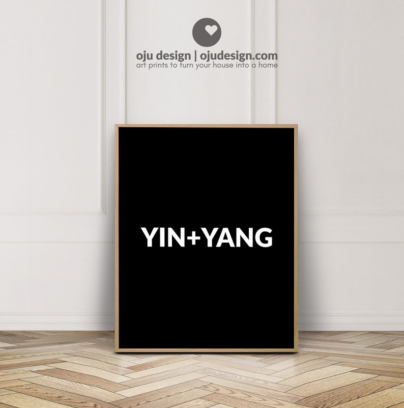 Yoga Print Yoga Decor Spiritual Art Yin Yang Quote Wall Etsy