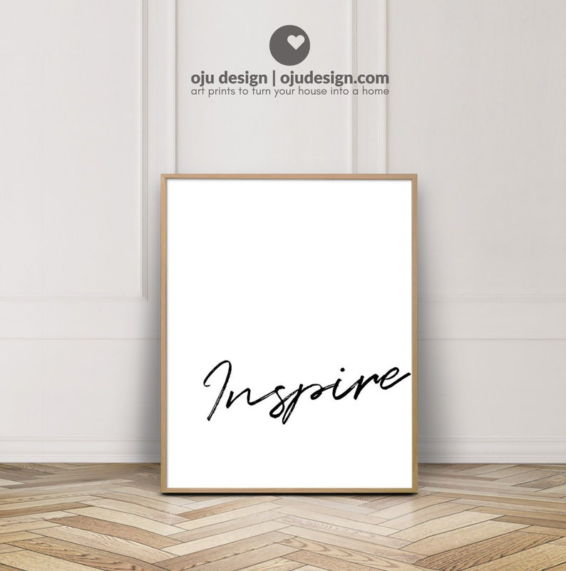 834506ba8569f Simple Quotes For Bedroom Wall - Word Poster Printable Art - Single Word  Quote Wall Decor - Inspire Wall Art - Creativity Quotes