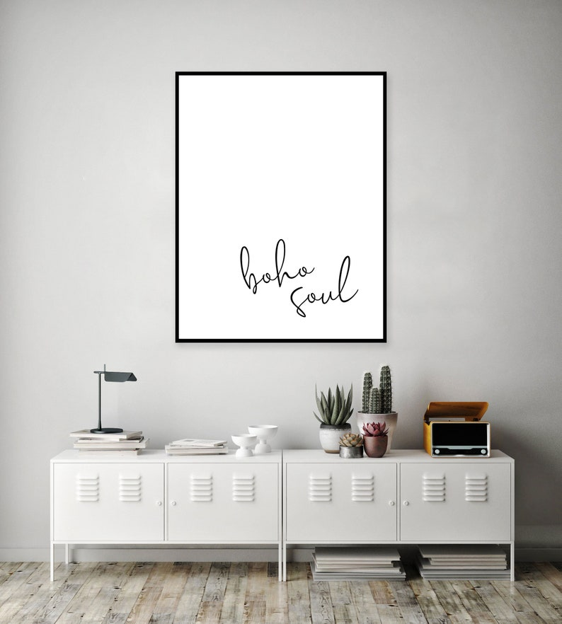 3ef4996f30589 Chic Boho Artwork - Bohemian Poster Print - Script Print for Bedroom -  Single Word Quote Printable Art - One Word Quotes