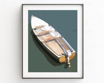 Boat Wall Print, Boat Art, Nautical Wall Decor, Nautical Decor, Beach House Decor, Poster Print, Nautical Art, Nautical Print Art, Art Work