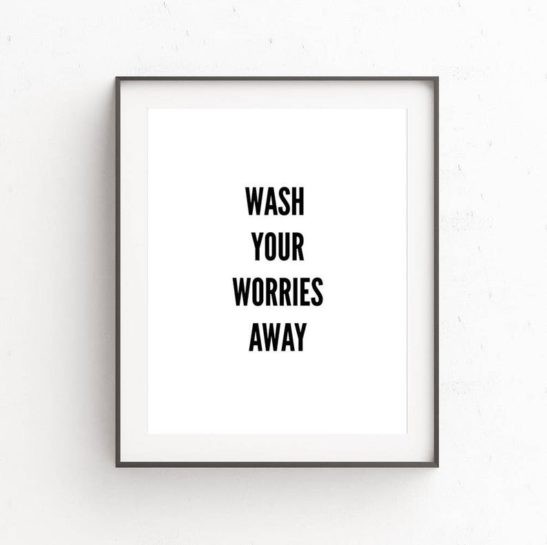 Quote Prints Download Bathroom Wall Quotes Kids Room Quote Etsy