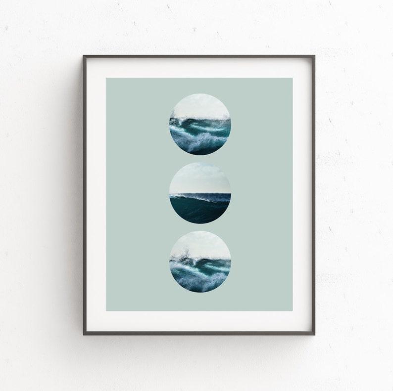 Wave Wall Print Seascape Wave Art Decor Beach Waves Print image 0