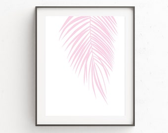 Printable Leaf Palm, Palm Leaf Print, New Wall Poster, Christmas Gifts For Her, Girls Room Decor, Wall Prints, Posters, Tropical Leaf Prints