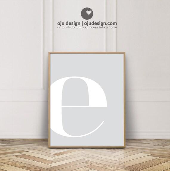 Metal Letters Art Print Home Decor Wall Art Poster E