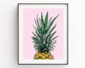Pineapple Poster | Pineapple Print Art | Tropical Wall Poster | Pineapple Print