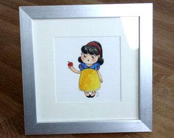 Mini snow white illustration